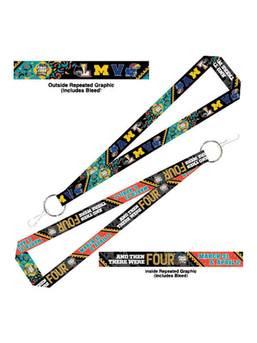 2018 NCAA Basketball Final Four Team Logos March Madness San Antonio Lanyard