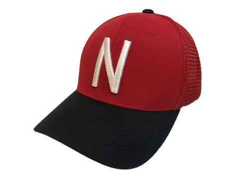 "Nebraska Cornhuskers TOW Red & Black ""Series"" Mesh Structured Adj. Strap Hat Cap - Sporting Up"