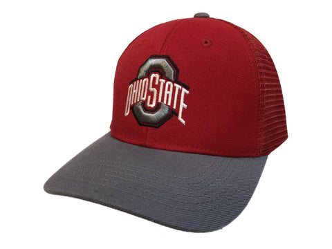 "Ohio State Buckeyes TOW Red & Gray ""Series"" Mesh Structured Adj. Strap Hat Cap"