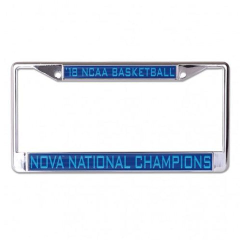 Villanova Wildcats 2018 NCAA Basketball Champions Inlaid License Plate Frame - Sporting Up