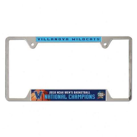 Villanova Wildcats 2018 NCAA Basketball Champions Metal License Plate Frame - Sporting Up