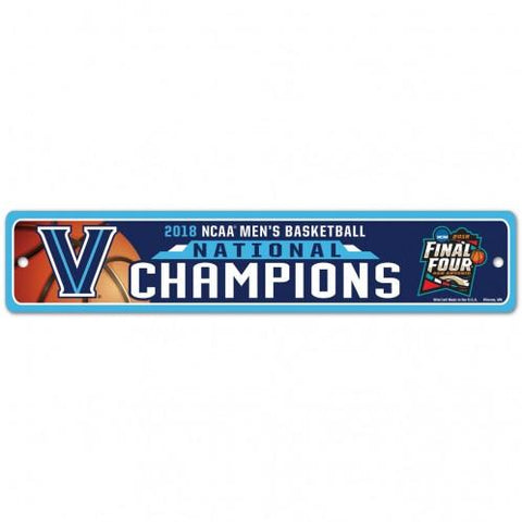 Villanova Wildcats 2018 NCAA Men's Basketball National Champions Plastic Sign - Sporting Up