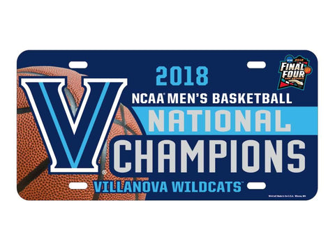 Villanova Wildcats 2018 NCAA Men's Bball National Champions License Plate Cover - Sporting Up