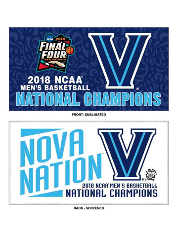 Villanova Wildcats 2018 NCAA Men's Bball National Champions Locker Room Towel