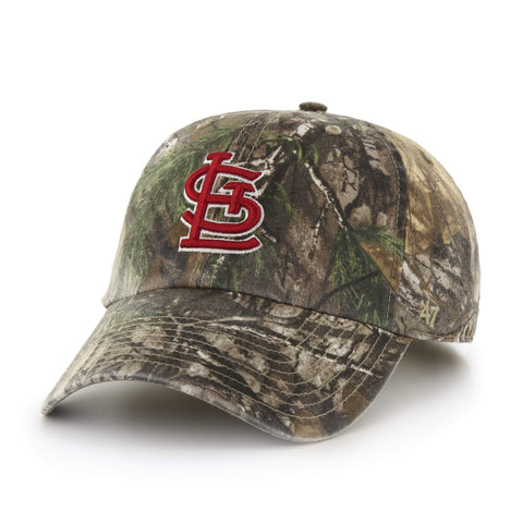 St. Louis Cardinals 47 Brand Realtree Camo Clean Up Adj. Strapback Relax Hat Cap