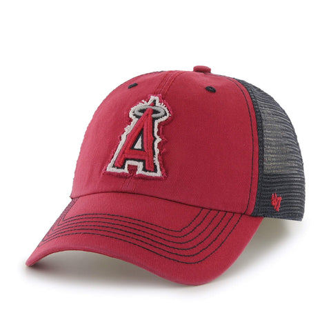 Los Angeles Angels of Anaheim 47 Brand Red Taylor Closer Mesh Flexfit Hat Cap