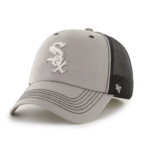 Chicago White Sox 47 Brand Gray Taylor Closer with Black Mesh Flexfit Hat Cap