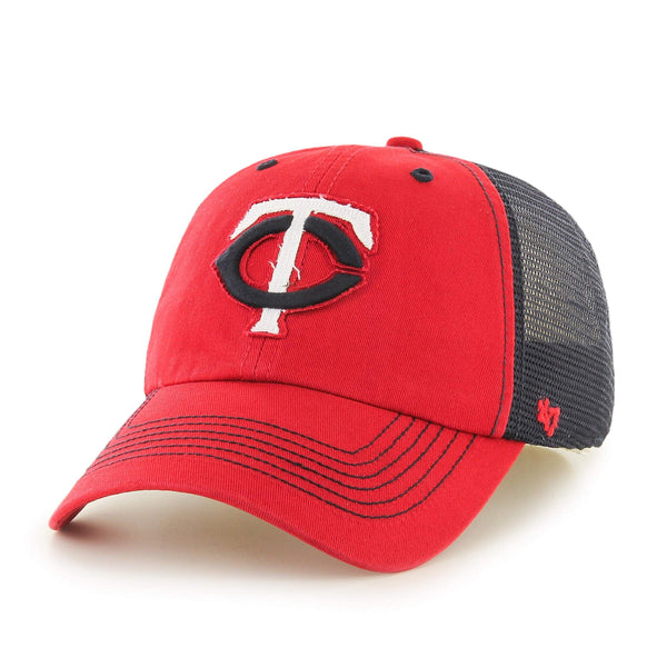 8dc00ff5b Minnesota Twins 47 Brand Red Taylor Closer with Navy Mesh Flexfit Slouch  Hat Cap