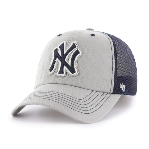 18dd7f4cf73 Shop New York Yankees 47 Brand Gray Taylor Closer with Navy Mesh Flexfit Hat  Cap