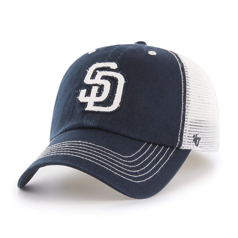 San Diego Padres 47 Brand Navy Taylor Closer with White Mesh Flexfit Hat Cap