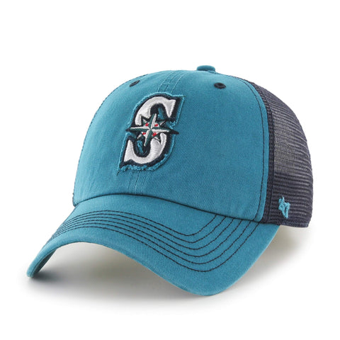 Seattle Mariners 47 Brand Dark Teal Taylor Closer with Navy Mesh Flexfit Hat  Cap ... 1a4eebc20e3