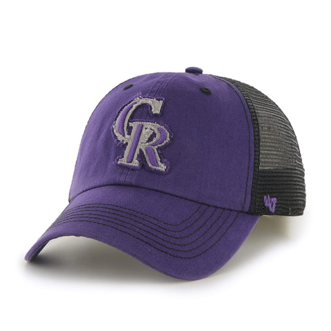 Colorado Rockies 47 Brand Purple Taylor Closer with Black Mesh Flexfit Hat Cap