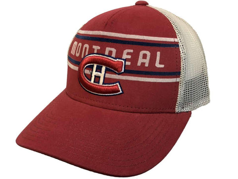 7eebba64c3a1f Shop Montreal Canadiens Adidas Red CCM Vintage Mesh Structured Snapback Hat  Cap