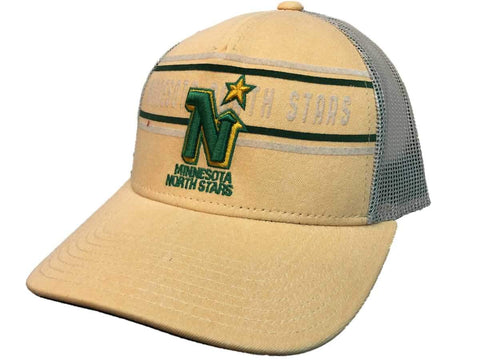 Minnesota North Stars Adidas Yellow CCM Vintage Mesh Structured Snapback Hat Cap