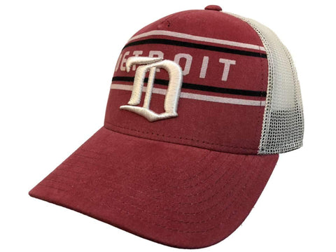 pretty nice e710b 8defc Shop Detroit Red Wings Adidas Red CCM Vintage Mesh Structured Snapback Hat  Cap