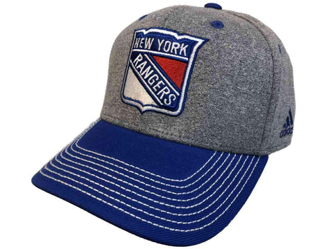 New York Rangers Adidas Two-Tone Gray Blue Structured Snapback Hat Cap