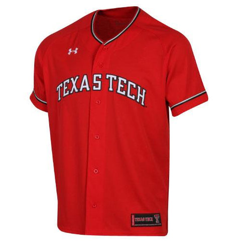 Texas Tech Red Raiders Under Armour Red Sideline Replica Baseball Jersey