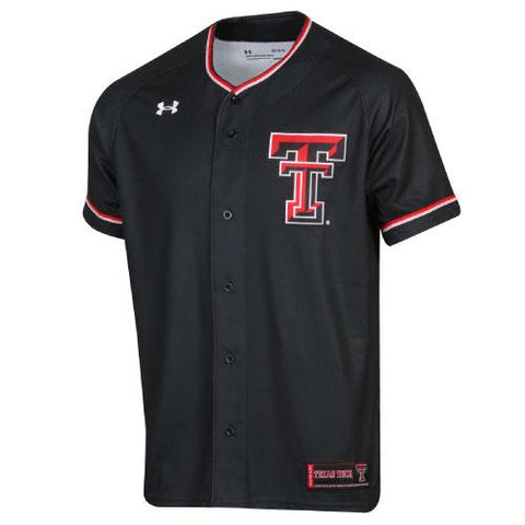 Texas Tech Red Raiders Under Armour Black Sideline Replica Baseball Jersey