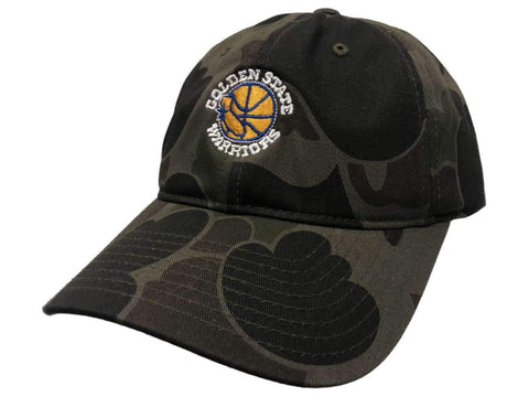 Golden State Warriors Mitchell & Ness Camo Adjustable Strapback Slouch Hat Cap