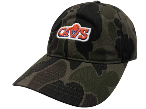 Cleveland Cavaliers Mitchell & Ness Camo Adjustable Strapback Slouch Hat Cap