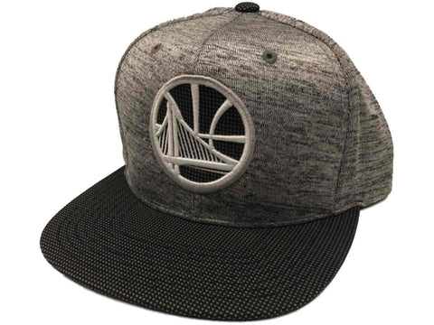 Golden State Warriors Mitchell & Ness Gray Space Knit Snapback Flat Bill Hat Cap