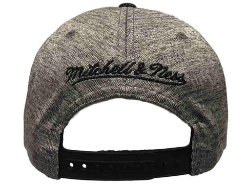 6528d5f75df ... Golden State Warriors Mitchell   Ness Gray Space Knit Snapback Flat  Bill Hat Cap
