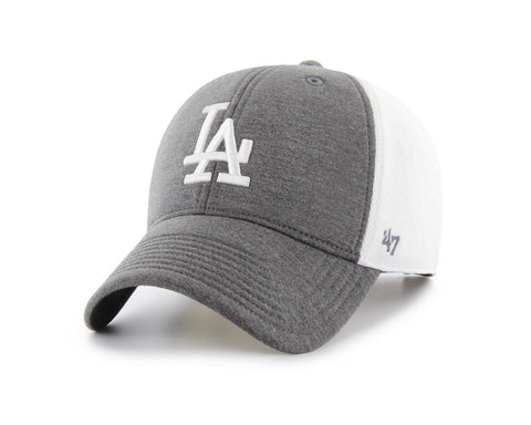 Shop Los Angeles Dodgers 47 Brand Two-Tone Haskell MVP Mesh Structured Adj. Hat Cap - Sporting Up