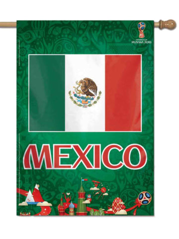 Mexico 2018 FIFA World Cup Russia Green White Red Indoor Outdoor Vertical Flag