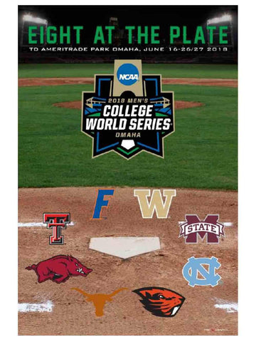 2018 College World Series CWS Eight at the Plate Ameritrade Park Omaha Poster