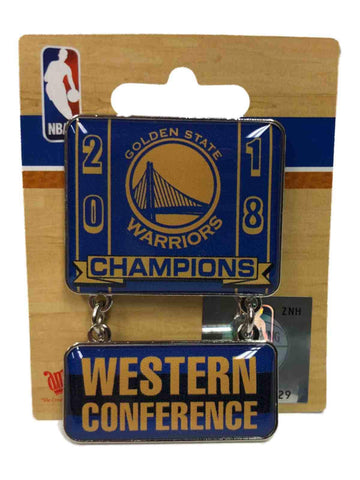 Golden State Warriors 2018 NBA Western Conference Champions Aminco Dangler Pin