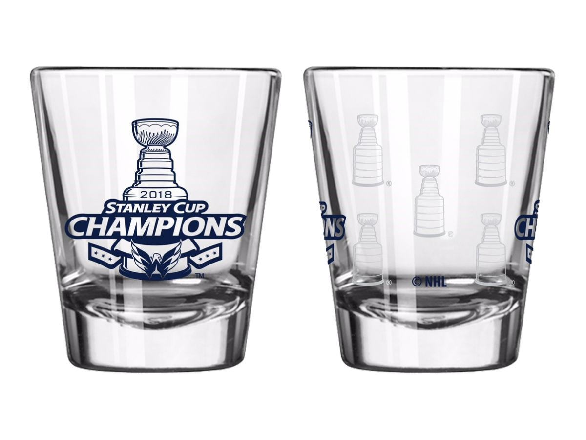 Washington Capitals 2018 NHL Stanley Cup Champions Boelter Satin Etch Shot Glass - One Size / White