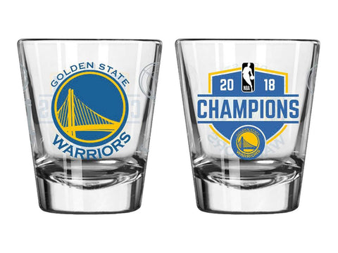 Golden State Warriors 2018 NBA Champions Boelter Brands Satin Etch Shot Glass