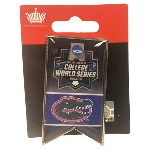 Florida Gators 2018 NCAA College World Series CWS Aminco Banner Lapel Pin