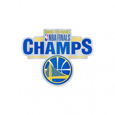 Golden State Warriors 2018 NBA Finals Champions Trophy Auto Badge Decal
