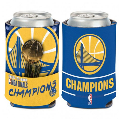 Golden State Warriors 2018 NBA Finals Champions Trophy Team Colors Can Cooler