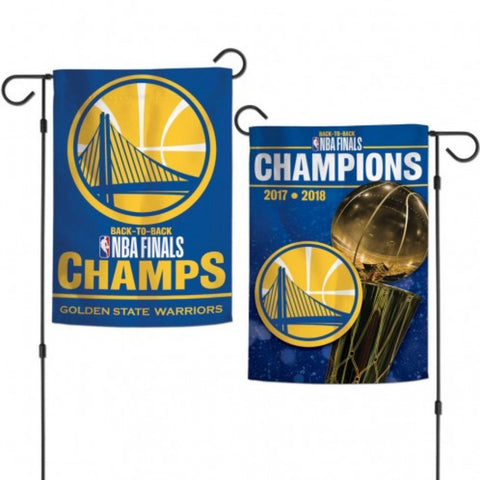 Golden State Warriors 2018 NBA Finals Champions Trophy 2-Sided Garden Flag