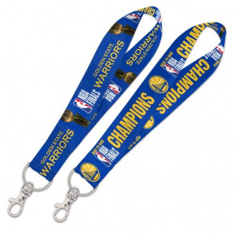 Golden State Warriors 2018 NBA Finals Champions Back to Back Keystrap Lanyard