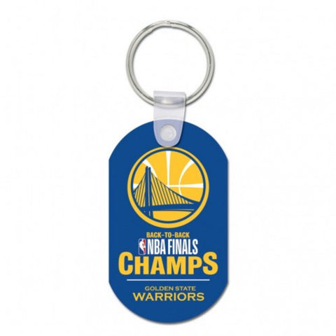 Golden State Warriors 2018 NBA Finals Champions Back to Back Aluminum Keychain