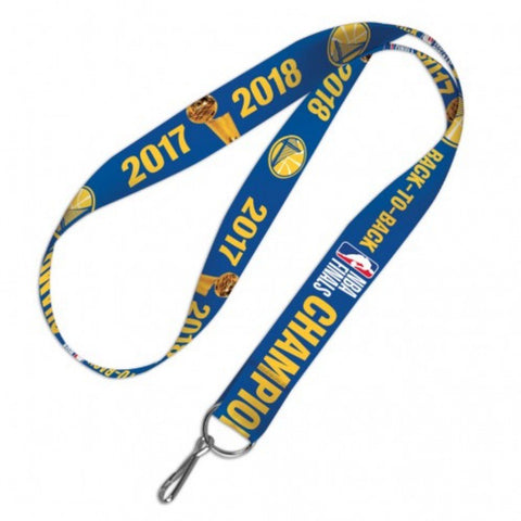 Golden State Warriors 2018 NBA Finals Champions Back to Back Durable Lanyard