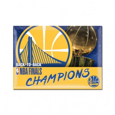 Golden State Warriors 2018 NBA Finals Champions Back to Back Refrigerator Magnet