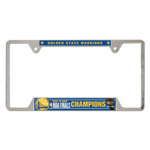 Golden State Warriors 2018 NBA Finals Champions Metal License Plate Frame