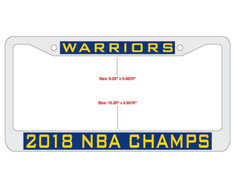 Golden State Warriors 2018 NBA Finals Champions Inlaid License Plate Frame