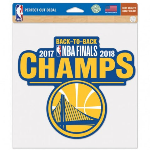 Golden State Warriors 2018 NBA Finals Champions Large Perfect Cut Decal