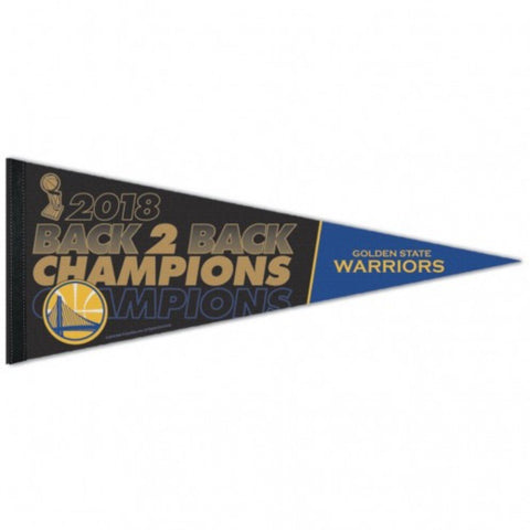 Golden State Warriors 2018 NBA Finals Champions Back to Back Premium Pennant