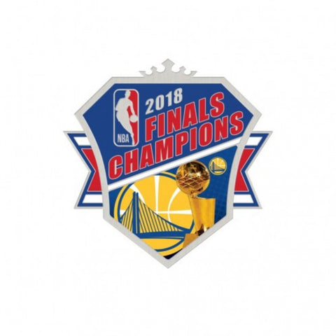 Golden State Warriors 2018 NBA Finals Champions Trophy Metal Lapel Pin