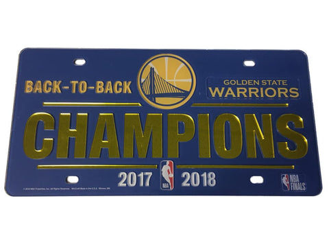 Golden State Warriors 2018 NBA Finals Champions Mirror License Plate Cover