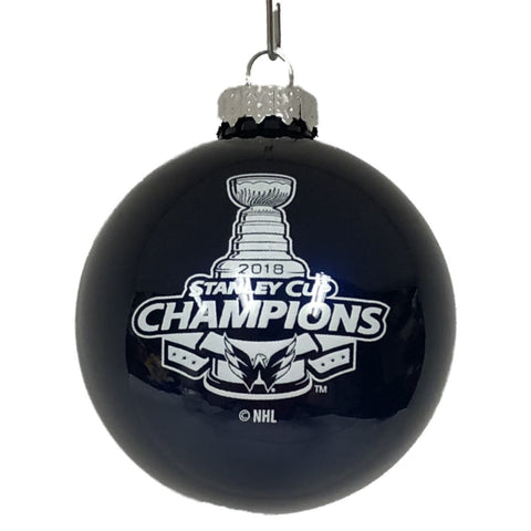 8962ace0d64 Shop Washington Capitals 2018 Stanley Cup Champions Glass Ball Christmas  Ornament