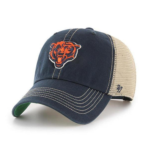 half off 1f8d6 5b7a5 Shop Chicago Bears 47 Brand Trawler Navy Clean Up Mesh Snapback Slouch Hat  Cap