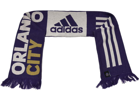 Orlando City SC MLS Adidas Team Colors Acrylic Knit Scarf with Tassles