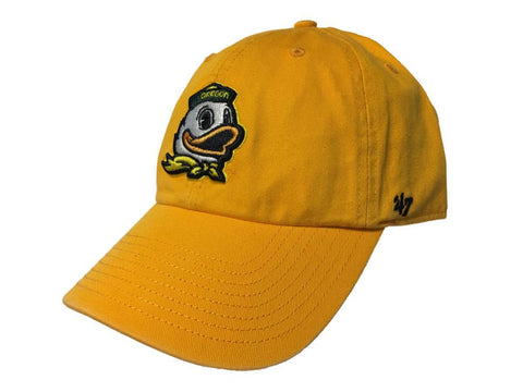 051ffac45a4 Shop Oregon Ducks 47 Brand Gold Clean Up Adjustable Strapback Slouch Relax Hat  Cap